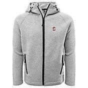 Levelwear Men's Stanford Cardinal Grey Titan Full-Zip Jacket