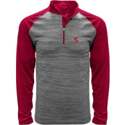Levelwear Men's Stanford Cardinal Grey Vandal Quarter-Zip Shirt