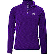 Levelwear Men's TCU Horned Frogs Purple Mobility Quarter-Zip Long Sleeve Shirt