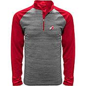 Levelwear Men's Utah Utes Grey Vandal Quarter-Zip Shirt