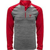 Levelwear Men's Texas Tech Red Raiders Grey Vandal Quarter-Zip Shirt