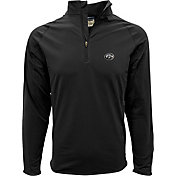 Levelwear Men's Iowa Hawkeyes Black Metro Quarter-Zip Pullover