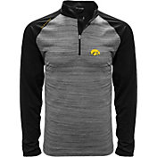 Levelwear Men's Iowa Hawkeyes Grey Vandal Quarter-Zip Shirt