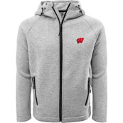 Levelwear Men's Wisconsin Badgers Grey Titan Full-Zip Jacket