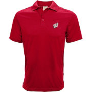 Levelwear Men's Wisconsin Badgers Red Helium Polo