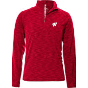 Levelwear Men's Wisconsin Badgers Red Mobility Quarter-Zip Long Sleeve Shirt