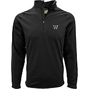 Levelwear Men's Washington Huskies Black Metro Quarter-Zip Pullover