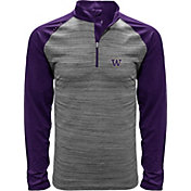 Levelwear Men's Washington Huskies Grey Vandal Quarter-Zip Shirt