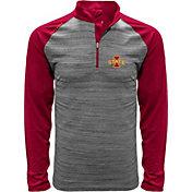 Levelwear Men's Iowa State Cyclones Grey Vandal Quarter-Zip Shirt
