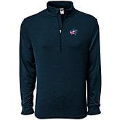 Levelwear Women's Columbus Blue Jackets Pacer Navy Quarter-Zip Shirt