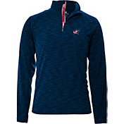 Levelwear Men's Columbus Blue Jackets Mobility Navy Quarter-Zip Shirt
