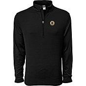 Levelwear Men's Boston Bruins Pacer Dark Grey Quarter-Zip Shirt