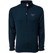Levelwear Men's Washington Capitals Pacer Navy Quarter-Zip Shirt