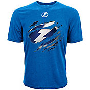 Levelwear Men's Tampa Bay Lightning Ripped Logo Royal T-Shirt