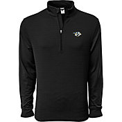 Levelwear Men's Nashville Predators Pacer Dark Grey Quarter-Zip Shirt