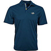 Levelwear Men's Nashville Predators Navy Omaha Polo