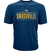 Levelwear Men's Nashville Predators Smashville Hockey Navy T-Shirt