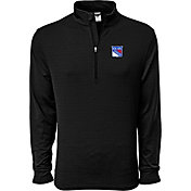 Levelwear Men's New York Rangers Pacer Dark Grey Quarter-Zip Shirt