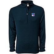 Levelwear Men's New York Rangers Pacer Navy Quarter-Zip Shirt