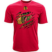 Levelwear Youth Chicago Blackhawks Ripped Logo Red T-Shirt