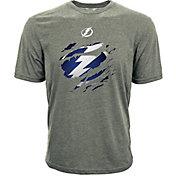 Levelwear Youth Tampa Bay Lightning Ripped Logo Grey T-Shirt