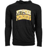 Levelwear Youth Pittsburgh Penguins Performance Arch Black Long Sleeve Hoodie T-Shirt