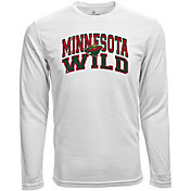 Levelwear Youth Minnesota Wild Performance Arch White Long Sleeve T-Shirt