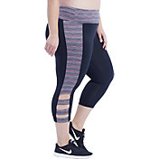Marika Curves Women's Plus Size Sprint High Rise Capris Leggings