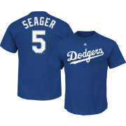 Majestic Boys' Los Angeles Dodgers Corey Seager #5 Royal T-Shirt