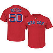 Majestic Boys' Boston Red Sox Mookie Betts #50 Red T-Shirt