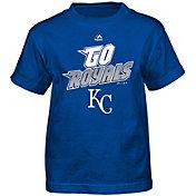 Majestic Boys' Kansas City Royals Loud Speakers Royal T-Shirt