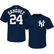 Majestic Boys' New York Yankees Gary Sanchez #24 Navy T-Shirt