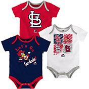 Majestic Infant St. Louis Cardinals 3-Piece Onesie Set