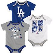 Majestic Infant Los Angeles Dodgers 3-Piece Onesie Set