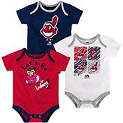 Majestic Infant Cleveland Indians 3-Piece Onesie Set