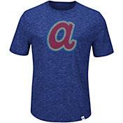 Majestic Men's Atlanta Braves Cooperstown Royal T-Shirt