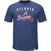 Majestic Men's Atlanta Braves Stoked Navy T-Shirt