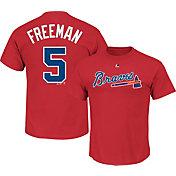 Majestic Men's Atlanta Braves Freddie Freeman #5 Red T-Shirt