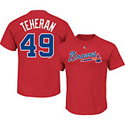 Majestic Men's Atlanta Braves Julio Teheran #49 Red T-Shirt