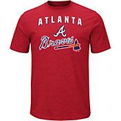 Majestic Men's Atlanta Braves Stoked Red T-Shirt