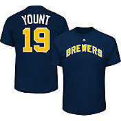 Majestic Men's Milwaukee Brewers Robin Yount #19 Royal T-Shirt