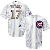 Majestic Men's Chicago Cubs World Series Champs Kris Bryant #17 Cool Base Home White Jersey