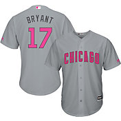 Majestic Men's Replica Chicago Cubs Kris Bryant #17 2017 Mother's Day Cool Base Jersey