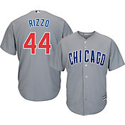 Majestic Men's Replica Chicago Cubs Anthony Rizzo #44 Cool Base Road Grey Jersey