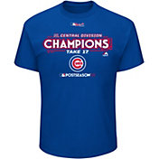 Majestic Men's Chicago Cubs 2017 NL Central Champions Locker Room Royal T-Shirt
