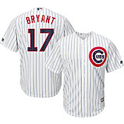 Majestic Men's Replica Chicago Cubs Kris Bryant #17 2017 4th Of July Cool Base Jersey