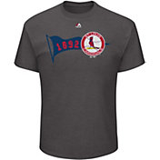Majestic Men's St. Louis Cardinals Baseball Beginnings Grey T-Shirt