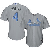 Majestic Men's Replica St. Louis Cardinals Yadier Molina #4 2017 Father's Day Cool Base Jersey
