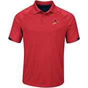 Majestic Men's St. Louis Cardinals Cool Base Red Polo
