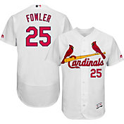Majestic Men's Authentic St. Louis Cardinals Dexter Fowler #25 Flex Base Home White On-Field Jersey